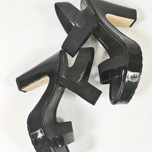 Donald J Pliner Black Platform Sandal Size 9